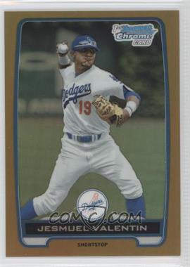 2012 Bowman Draft Picks & Prospects Chrome Draft Picks Gold Refractors #BDPP11 - Jesmuel Valentin /50