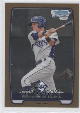 2012 Bowman Draft Picks & Prospects Chrome Draft Picks Gold Refractors #BDPP154 - Benjamin Kline /50
