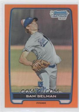 2012 Bowman Draft Picks & Prospects Chrome Draft Picks Orange Refractors #BDPP116 - Sam Selman /25