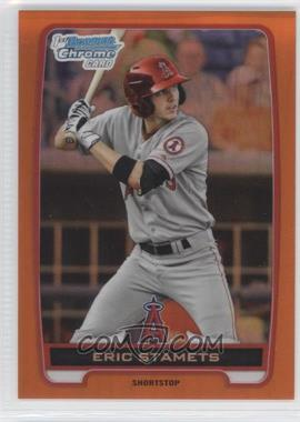 2012 Bowman Draft Picks & Prospects Chrome Draft Picks Orange Refractors #BDPP127 - Eric Stamets /25