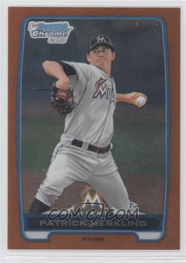 2012 Bowman Draft Picks & Prospects Chrome Draft Picks Orange Refractors #BDPP136 - Patrick Merkling /25
