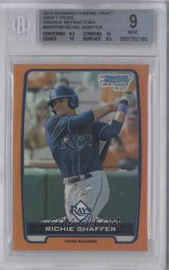 2012 Bowman Draft Picks & Prospects Chrome Draft Picks Orange Refractors #BDPP30 - Richie Shaffer /25 [BGS 9]