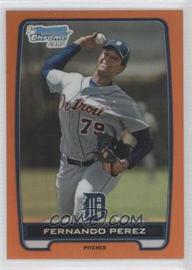 2012 Bowman Draft Picks & Prospects Chrome Draft Picks Orange Refractors #BDPP50 - Fernando Perez /25