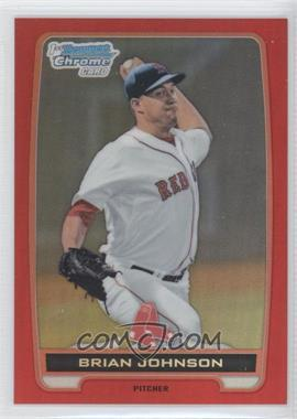 2012 Bowman Draft Picks & Prospects Chrome Draft Picks Red Refractors #BDPP3 - Brian Johnson /5
