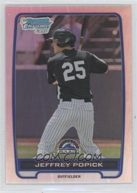 2012 Bowman Draft Picks & Prospects Chrome Draft Picks Refractors #BDPP121 - Jeffrey Popick