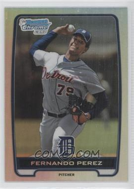 2012 Bowman Draft Picks & Prospects Chrome Draft Picks Refractors #BDPP50 - Fernando Perez
