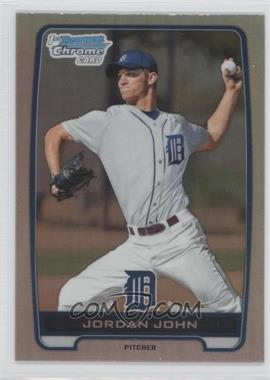 2012 Bowman Draft Picks & Prospects Chrome Draft Picks Refractors #BDPP62 - Jordan John