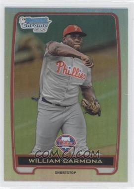 2012 Bowman Draft Picks & Prospects Chrome Draft Picks Refractors #BDPP80 - William Carmona