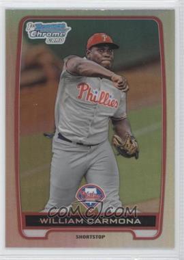 2012 Bowman Draft Picks & Prospects Chrome Draft Picks Refractors #BDPP80 - William Carmona
