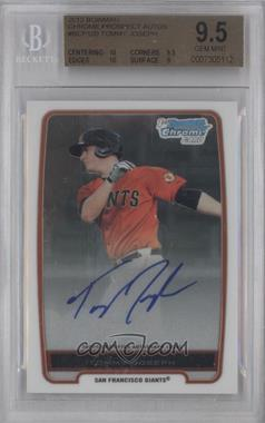2012 Bowman Draft Picks & Prospects Chrome Prospects Certified Autographs [Autographed] #BCP100 - Tommy Joseph [BGS 9.5]