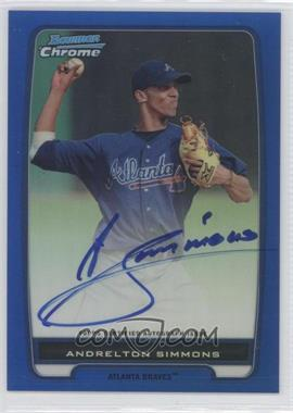2012 Bowman Draft Picks & Prospects Chrome Prospects Certified Autographs Blue Refractor #BCA-109 - Andrelton Simmons /150