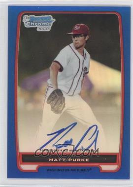 2012 Bowman Draft Picks & Prospects Chrome Prospects Certified Autographs Blue Refractor #BCA-80 - Matt Purke /150