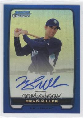 2012 Bowman Draft Picks & Prospects Chrome Prospects Certified Autographs Blue Refractor #BCA-BMI - Brad Miller /150
