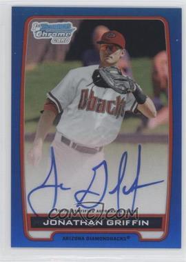 2012 Bowman Draft Picks & Prospects Chrome Prospects Certified Autographs Blue Refractor #BCA-JG - Jonathan Griffin /150
