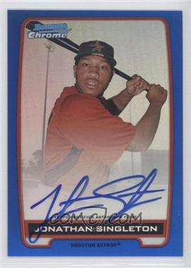 2012 Bowman Draft Picks & Prospects Chrome Prospects Certified Autographs Blue Refractor #BCA-JS - Jonathan Singleton /150