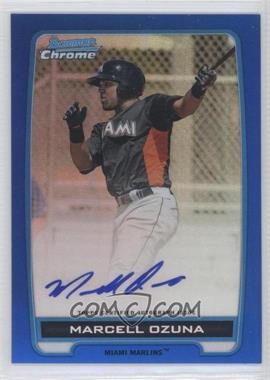 2012 Bowman Draft Picks & Prospects Chrome Prospects Certified Autographs Blue Refractor #BCA-MO - Marcell Ozuna /150