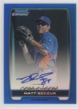 2012 Bowman Draft Picks & Prospects Chrome Prospects Certified Autographs Blue Refractor #BCA-MS - Matt Szczur /150