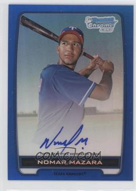 2012 Bowman Draft Picks & Prospects Chrome Prospects Certified Autographs Blue Refractor #BCA-NM - Nomar Mazara /150