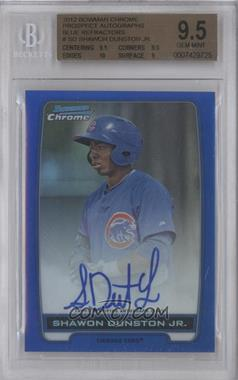 2012 Bowman Draft Picks & Prospects Chrome Prospects Certified Autographs Blue Refractor #BCA-SD - Shawon Dunston Jr. /150 [BGS 9.5]