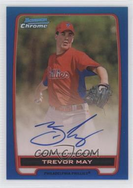 2012 Bowman Draft Picks & Prospects Chrome Prospects Certified Autographs Blue Refractor #BCA-TM - Trevor May /150