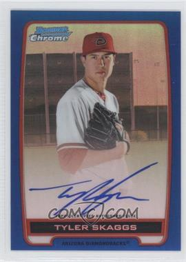 2012 Bowman Draft Picks & Prospects Chrome Prospects Certified Autographs Blue Refractor #BCA-TS - Tyler Skaggs /150