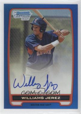 2012 Bowman Draft Picks & Prospects Chrome Prospects Certified Autographs Blue Refractor #BCA-WJ - Williams Jerez /150