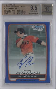 2012 Bowman Draft Picks & Prospects Chrome Prospects Certified Autographs Blue Refractor #BCP100 - Tommy Joseph /150 [BGS 9.5]