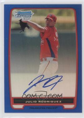 2012 Bowman Draft Picks & Prospects Chrome Prospects Certified Autographs Blue Refractor #BCP101 - Julio Rodriguez /150