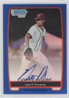 2012 Bowman Draft Picks & Prospects Chrome Prospects Certified Autographs Blue Refractor #BCP80 - Matt Purke /150
