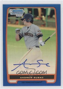 2012 Bowman Draft Picks & Prospects Chrome Prospects Certified Autographs Blue Refractor #BCP97 - Andrew Susac /150