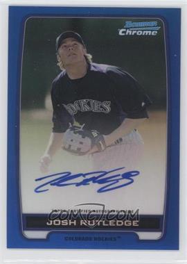 2012 Bowman Draft Picks & Prospects Chrome Prospects Certified Autographs Blue Refractor #BCPJR - Josh Rutledge /150
