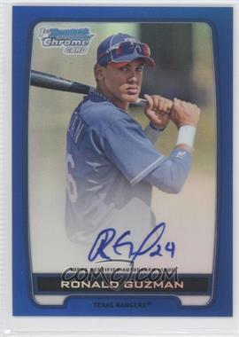 2012 Bowman Draft Picks & Prospects Chrome Prospects Certified Autographs Blue Refractor #BCPRG - Ronald Guzman /150