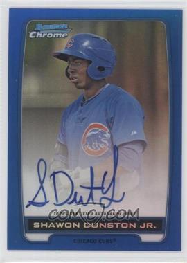 2012 Bowman Draft Picks & Prospects Chrome Prospects Certified Autographs Blue Refractor #BCPSD - Shawon Dunston Jr. /150
