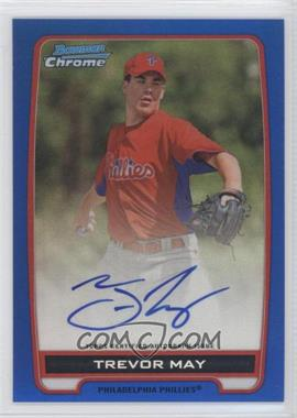2012 Bowman Draft Picks & Prospects Chrome Prospects Certified Autographs Blue Refractor #BCPTM - Trevor May /150