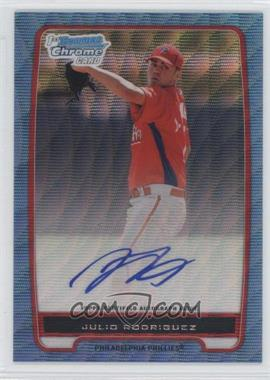 2012 Bowman Draft Picks & Prospects Chrome Prospects Certified Autographs Blue Wave Refractor #BCA-101 - Julio Rodriguez /50