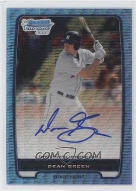 2012 Bowman Draft Picks & Prospects Chrome Prospects Certified Autographs Blue Wave Refractor #BCA-52 - Dean Green /50