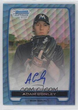 2012 Bowman Draft Picks & Prospects Chrome Prospects Certified Autographs Blue Wave Refractor #BCA-AC - Adam Conley /50