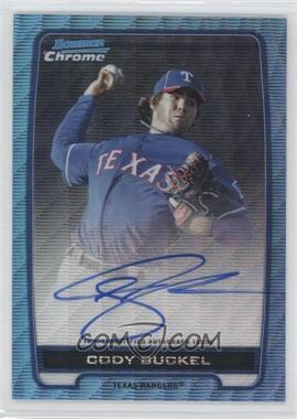 2012 Bowman Draft Picks & Prospects Chrome Prospects Certified Autographs Blue Wave Refractor #BCA-CBU - Cody Buckel /50