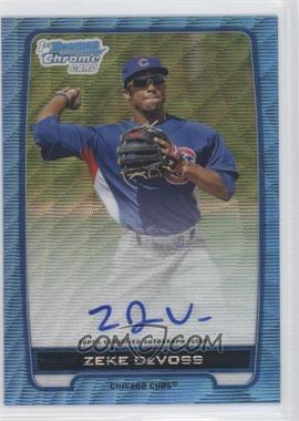 2012 Bowman Draft Picks & Prospects Chrome Prospects Certified Autographs Blue Wave Refractor #BCA-ZD - Zeke DeVoss /50