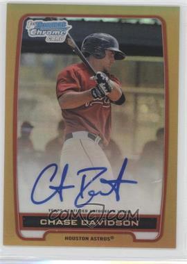 2012 Bowman Draft Picks & Prospects Chrome Prospects Certified Autographs Gold Refractor #BCA-CD - Chase Davidson /50