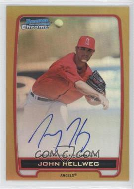 2012 Bowman Draft Picks & Prospects Chrome Prospects Certified Autographs Gold Refractor #BCA-JH - John Hellweg /50