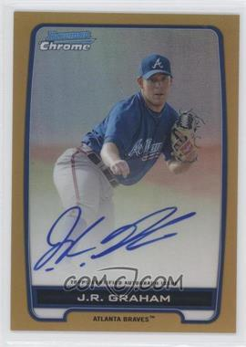 2012 Bowman Draft Picks & Prospects Chrome Prospects Certified Autographs Gold Refractor #BCA-JRG - J.R. Graham /50