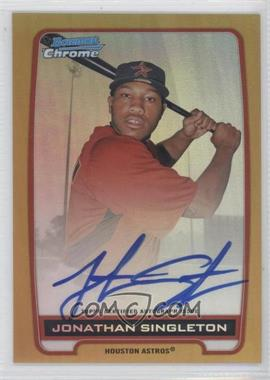 2012 Bowman Draft Picks & Prospects Chrome Prospects Certified Autographs Gold Refractor #BCA-JS - Jonathan Singleton /50