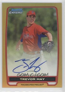2012 Bowman Draft Picks & Prospects Chrome Prospects Certified Autographs Gold Refractor #BCA-TM - Trevor May /50