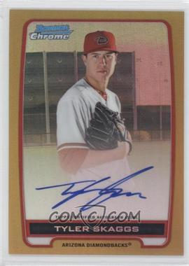 2012 Bowman Draft Picks & Prospects Chrome Prospects Certified Autographs Gold Refractor #BCA-TS - Tyler Skaggs /50