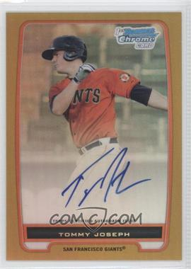2012 Bowman Draft Picks & Prospects Chrome Prospects Certified Autographs Gold Refractor #BCP100 - Tommy Joseph /50