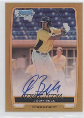 2012 Bowman Draft Picks & Prospects Chrome Prospects Certified Autographs Gold Refractor #BCP79 - Josh Bell /50