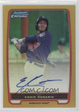 2012 Bowman Draft Picks & Prospects Chrome Prospects Certified Autographs Gold Refractor #BCP9 - Eddie Rosario /50