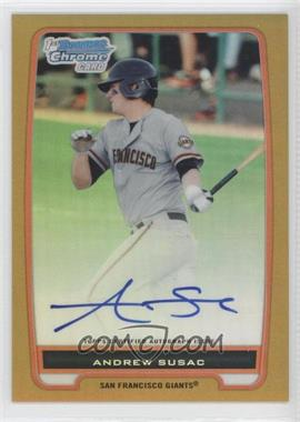 2012 Bowman Draft Picks & Prospects Chrome Prospects Certified Autographs Gold Refractor #BCP97 - Andrew Susac /50