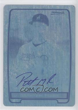 2012 Bowman Draft Picks & Prospects Chrome Prospects Certified Autographs Printing Plate Cyan #BCA-PM - Pratt Maynard /1